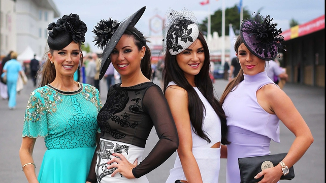 Sophie Small, Denise Manning, Luara Fox and Danielle Small enjoy the first day of the Galway Festival