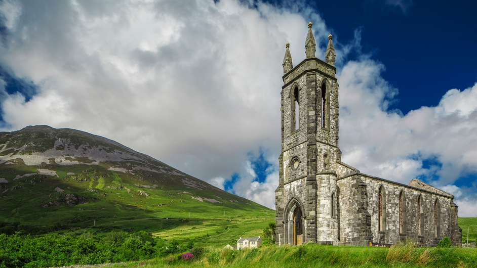 The old church in the Poison Glen, Dunlewey, Co Donegal (Pic: Eoghan Conmey)