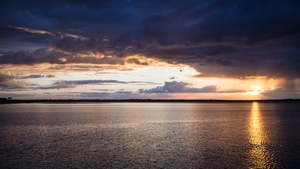 Sunset over Baldoyle, Co Dublin (Pic: Brendan Meehan)
