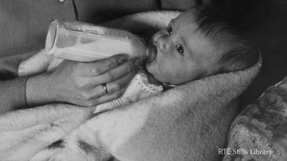 Mother Feeding Baby © RTÉ Archives 0899/037