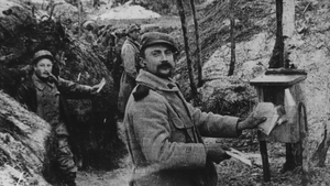 An image showing a post box in the third line of the trench where post was collected and delivered daily