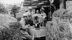 French officers dining in style near the front line
