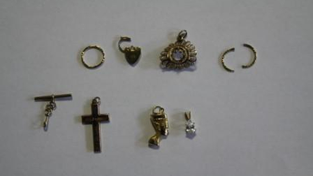The jewellery recovered included watches, rings, chains, bracelets and pendants