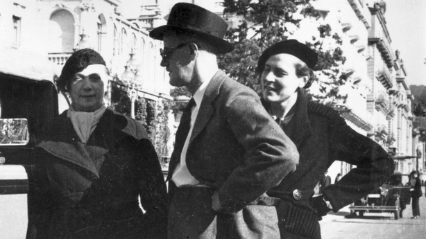 James Joyce and Nora Barnacle (left)