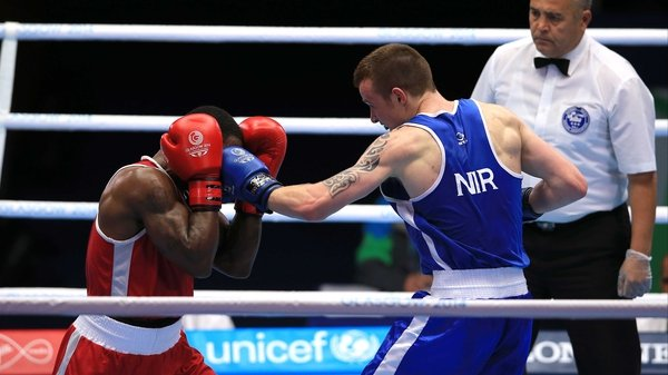 Steven Donnelly (blue) has qualified for the Games