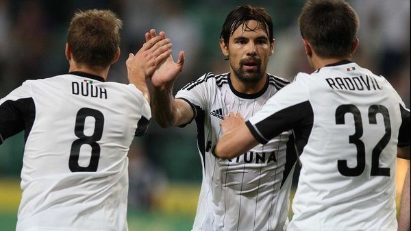 Legia Warsaw beat St Pat's 6-1 on aggregate in the last round of the Champions League qualifiers