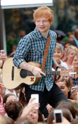 Ed Sheeran played a secret gig in Dublin in Doyles pub on College Green on July 30.