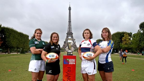 Captains Fiona Coghlan (Ireland), Fiao'o Faamausili (New Zealand), Shaina Turley (USA) and Anna Yakovleva (Kazakhstan) ahead of the tournament