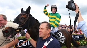 Tony McCoy on board Thomas Edison after victory in the 2014 Galway Hurdle