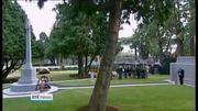 Nine News: Commemorative cross for Irish war dead unveiled