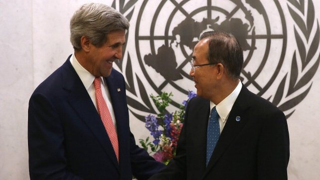 The truce was announced by US Secretary of State John Kerry and UN Secretary-General Ban Ki-moon