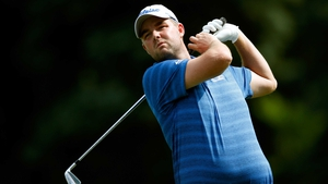 Marc Leishman tees off on the seventh tee