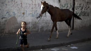 Many people, including this boy, were keen to check on their prized possessions