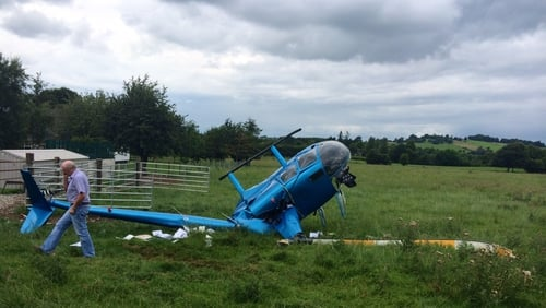 The crash happened near the village of Kinnity in Co Offaly (pic: Micheál Coughlan)