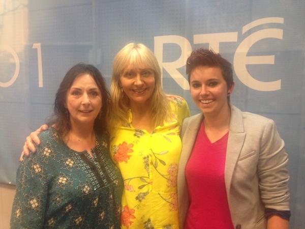 Moya Brennan, Miriam O'Callaghan and Aisling Jarvis