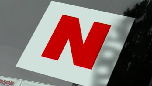 Novice drivers will have to display the 'N' plate for the first two years of their first licence