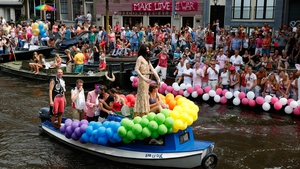 The annual Gay Pride parade in Amsterdam, The Netherlands