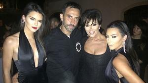 Kendall, Riccardo Tisci, Kris and Kim - Instagram/kimkardashian