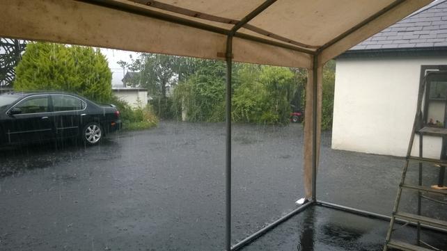 Rain in Clare yesterday evening (Pic: Conan Farrell)