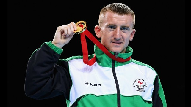 Paddy Barnes shows off his Commonwealth gold