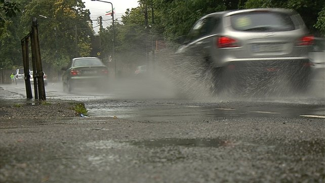 Dublin City Council said 85mm of rain fell in some parts of the city overnight