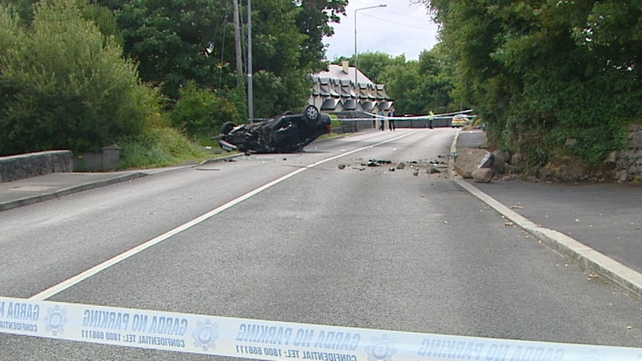 The woman died after the car she was driving hit a wall near Moycullen at about 4.30am