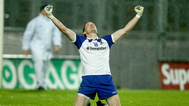 Conor McManus shows his delight at the final whistle as Monaghan prevailed over the Lilywhites