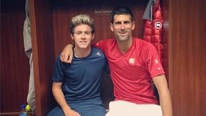 Niall Horan and Novak Djokovic - Instagram/niallhoran