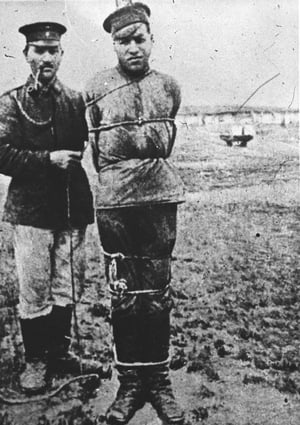 A Russian soldier held captive in Germany in 1914