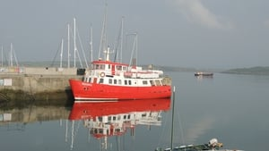 Mystic Waters, the ferry from Sherkin Island, at the pier in Baltimore Harbour, Co Cork (Pic: Vincent McNally)