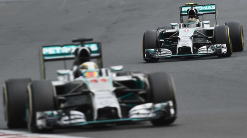 Lewis Hamilton and Nico Rosberg of  Mercedes have dominated this year