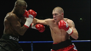 Jamie Moore's (r) in action against Gary Logan in 2003