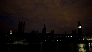British landmarks, including the Houses of Parliament, went dark from 10pm to mark the centenary of the start of the Great War