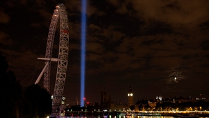 The lights were also turned off on the London Eye