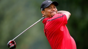 Tiger Woods in action at the WGC-Bridgestone Invitational on Sunday