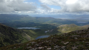 The view from the top of Carrauntuohill, Co Kerry (Pic Fiona Ní  Chéirín)
