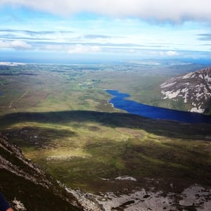Deirdre Colgan took this photo from the top of Mount Errigal in Co Donegal