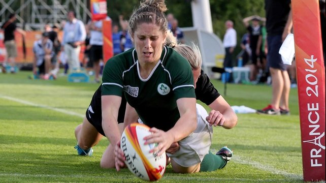 Alison Miller scored Ireland's crucial second try
