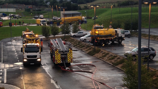 Emergency services at the scene at Letterkenny General Hospital (Pic: Christine Nic Suibhne)