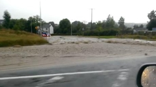 Flooding outside Letterkenny from the N56 (Footage: Kevin O'Rourke)