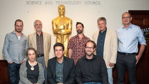 Aronofsky (top left), Zacks (front row, centre) and their fellow panellists