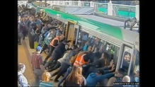 Perth commuters tilt train to free trapped man