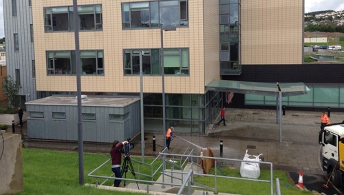 Severe flooding caused damage to 40% of the hospital in July last year (Pic: Áine Ní Bhreisleáin)