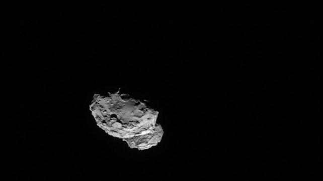 Comet has an asymmetrical shape