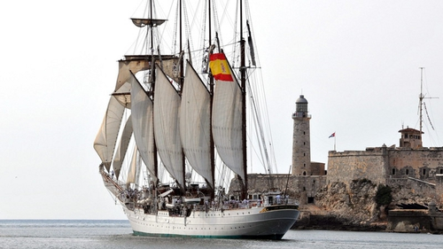 The Spanish tall ship visited Dublin in June
