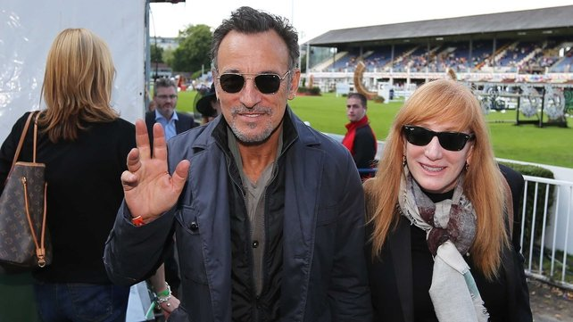 Bruce Springsteen and wife Patti were at the RDS to watch their daughter Jessica today