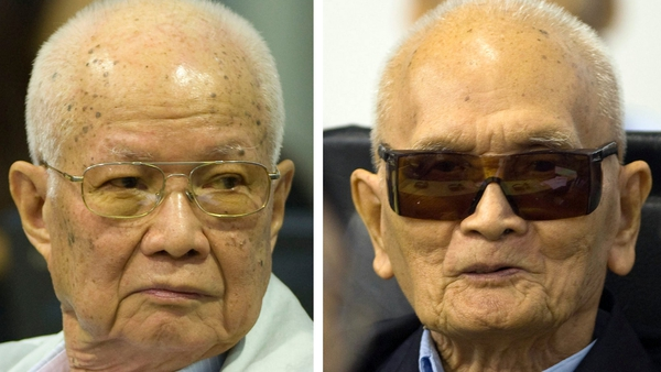 Khieu Samphan and Nuon Chea were convicted of crimes against humanity