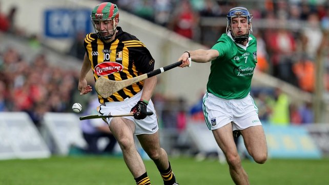 Kilkenny's Eoin Larkin and Gavin O'Mahony of Limerick during the sides' last championship meeting in 2012