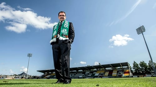 Pat Fenlon has returned to Shamrock Rovers having played for the Hoops during the 1996-97 season