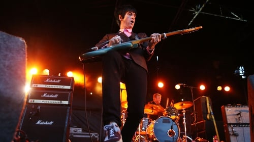 Former Smiths guitarist Johnny Marr entertains the crowd at Leopardstown